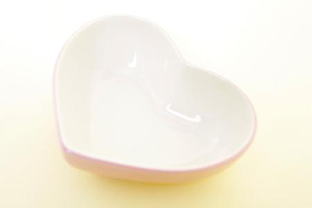 heartshaped: Heart-shaped dish Stock Photo