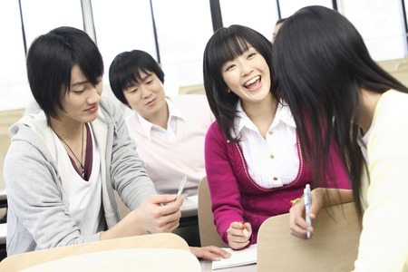 Students to talk with your friends Stock Photo
