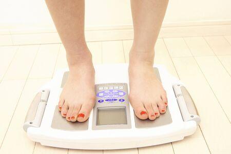 Woman weigh weight