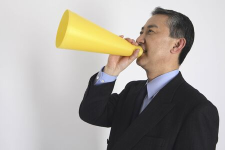 rant: and support to businessman Stock Photo