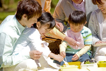 Hanami Picnic image Stock Photo