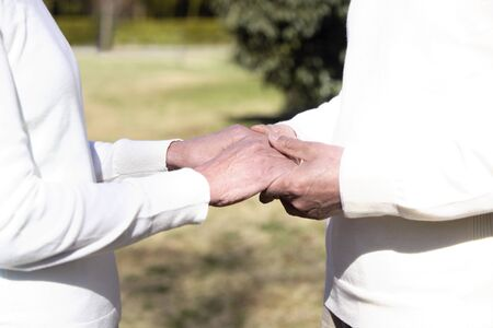 married couples: Senior couple that go hand in hand