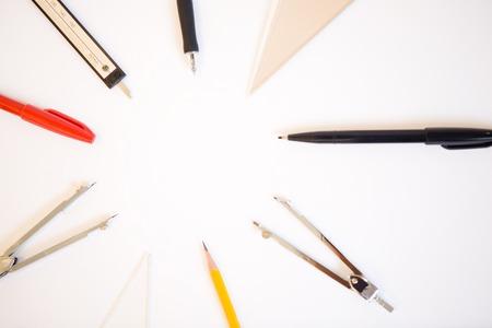 drafting tools: Drafting tools Stock Photo