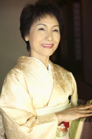 Kimono woman portrait
