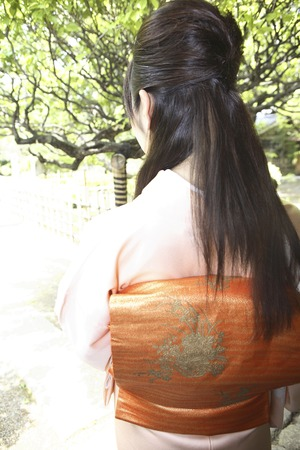civility: From behind the kimono woman