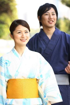 Yukata couple portraits 版權商用圖片