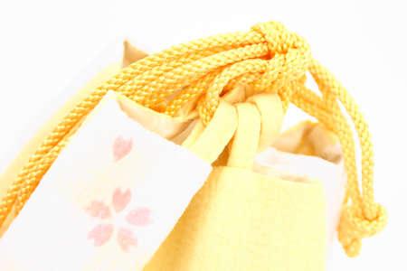 mouth cloth: DrawString purse Stock Photo