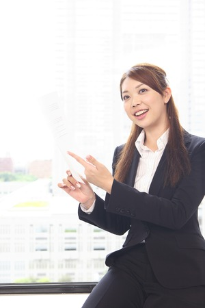 described: Office Lady, which will be described with the documentation Stock Photo