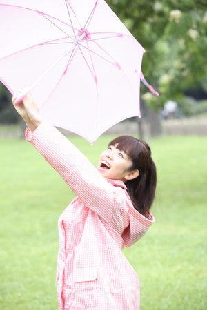 pleased: Women pleased after the rain
