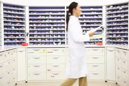 Pharmacist to walk a dispensary