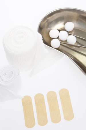 disinfection: Bandages and bandage and disinfection cotton