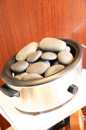 warmer: Stone that has been placed in the warmer Stock Photo