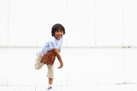 threw: Boy threw the ball