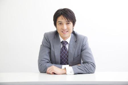 sitting smile businessman