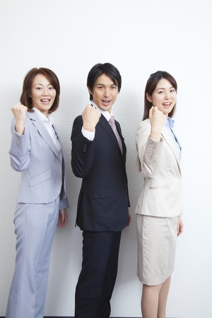 wnętrzności: Businessman and OL2 people to the guts pose
