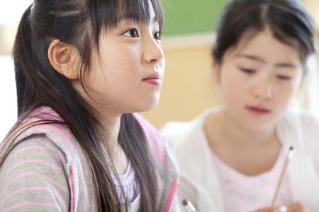 Elementary school girls in class