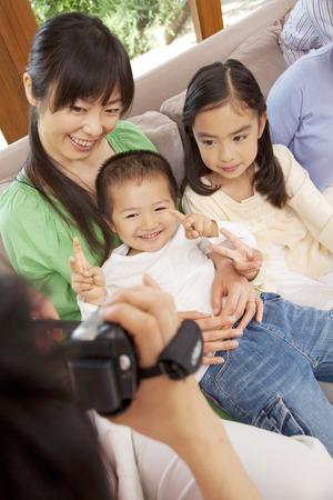 seres vivos: Father to shoot the family Biokamera