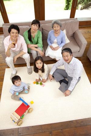 momma: 3-generation family.