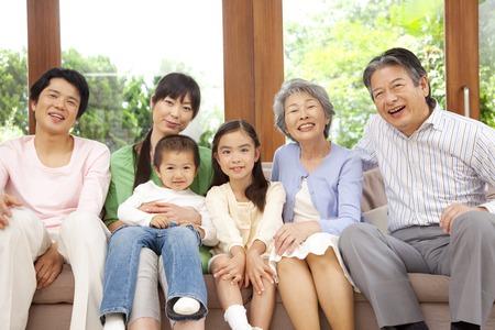 3 世代家族。 写真素材