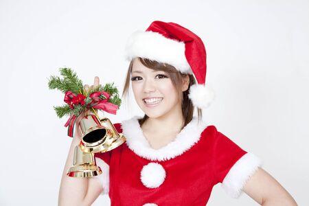 santa girl: Santa Girl with ornament