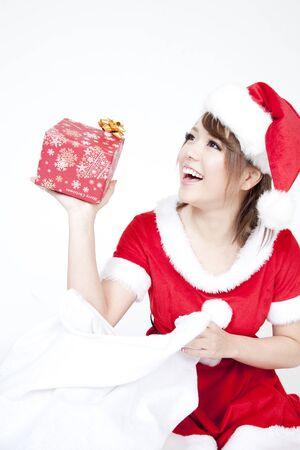 santa girl: Santa girl to take out the gift