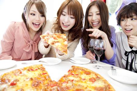 Women who eat pizza