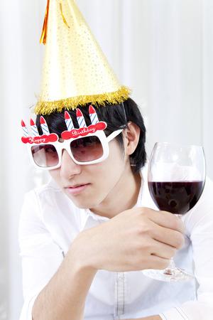 frolic: Men who frolic at a party