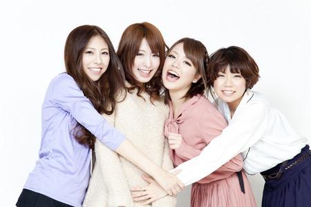 women who snuggle Stockfoto