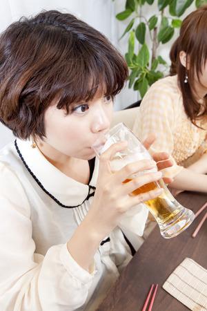 rollick: Beer drinking woman