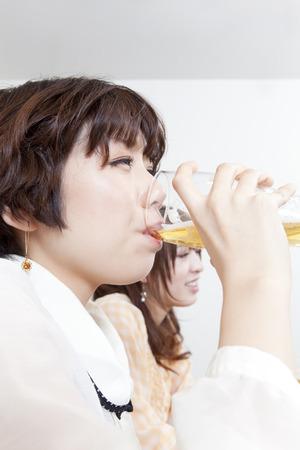 resound: Beer drinking woman