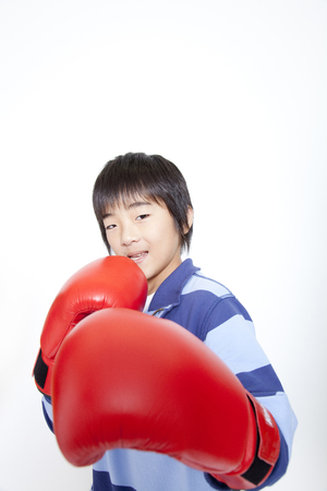 Boy for boxing Stock Photo