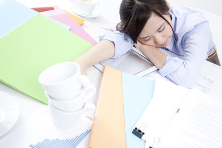 the weariness: OL to work overtime Stock Photo