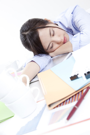 drowse: OL to work overtime Stock Photo