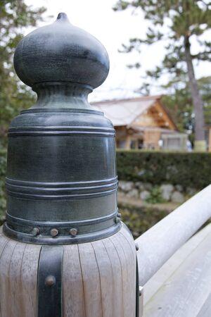 worshipping: The outer shrine of Ise Jingu Shrine Stock Photo
