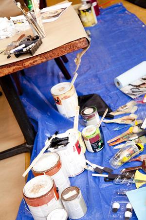 art supplies: Art supplies Stock Photo