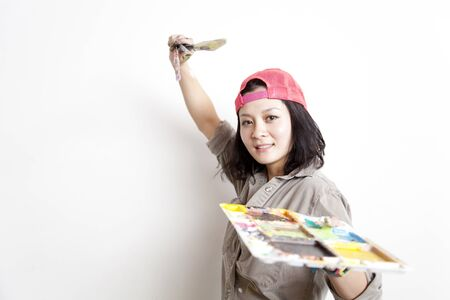 congradulations: Women with a paintbrush