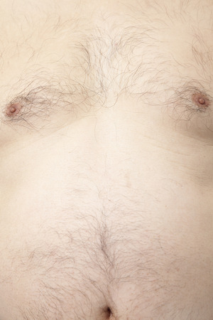 chest hair: Middle-aged male body hair