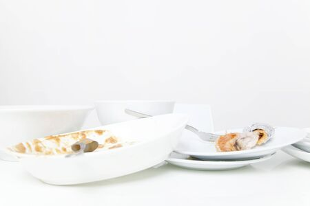 tableware: Postprandial tableware Stock Photo