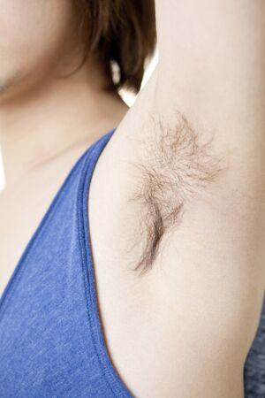 aside: Underarm hair of men Stock Photo