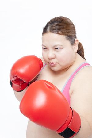 overweight women: Overweight women boxercise