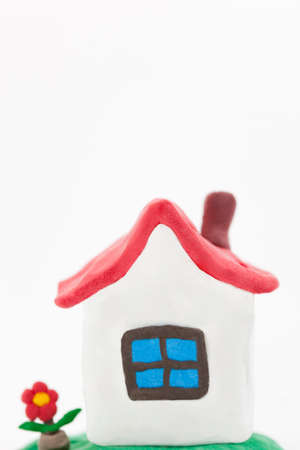 clay modeling: Of clay work home Stock Photo