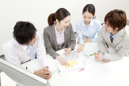 asia business: Corporate meeting Stock Photo