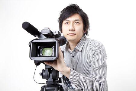 camara de cine: Turn the movie camera man