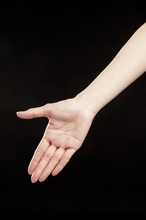 accomplishments: Shaking hands Stock Photo