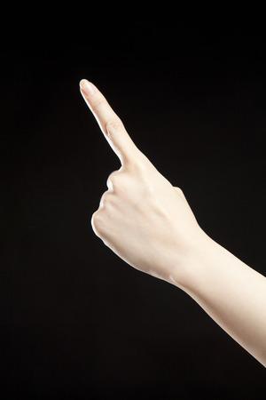one finger: One finger.