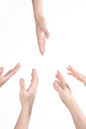 reach out: hand to reach out