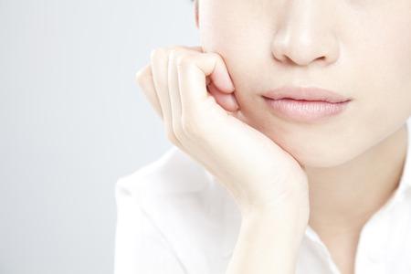 Chin on women Banco de Imagens