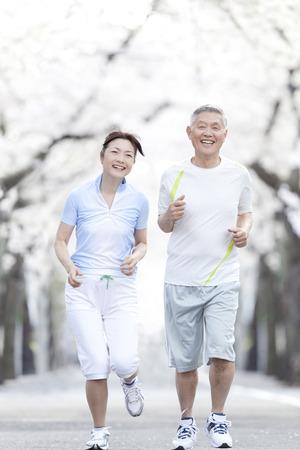 sixty: Senior couple jogging