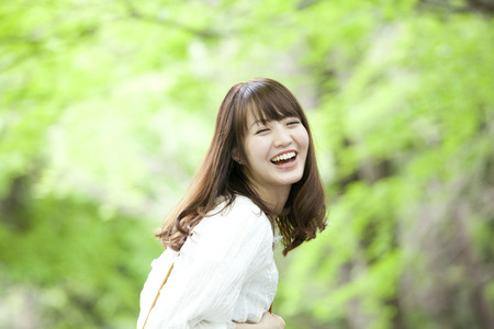 Women smiled back Reklamní fotografie