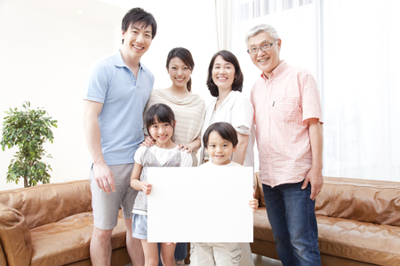 three generation: Three generation families with a message board